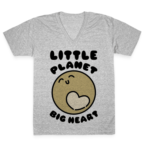 Little Planet Big Heart V-Neck Tee Shirt
