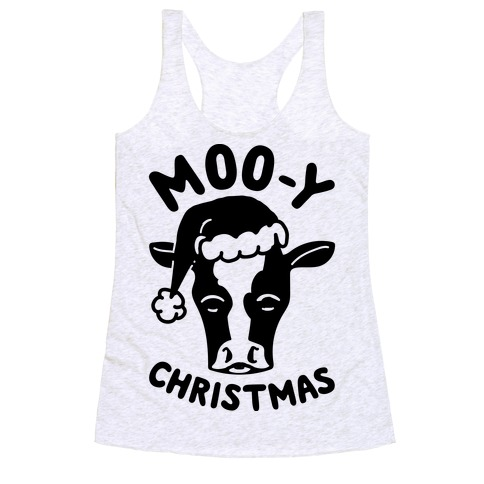 Moo-y Christmas Racerback Tank Top