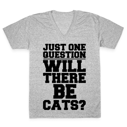 Will There Be Cats? V-Neck Tee Shirt