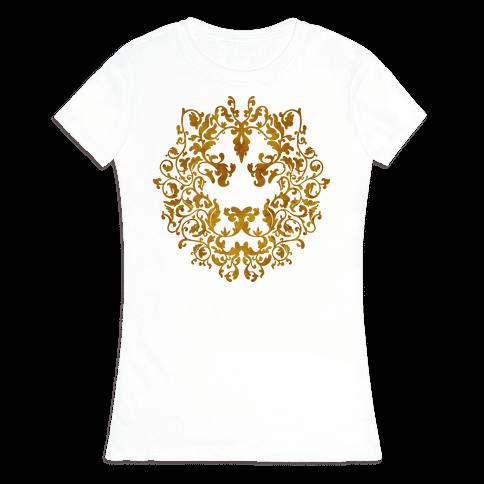 Floral Lion Womens T-Shirt