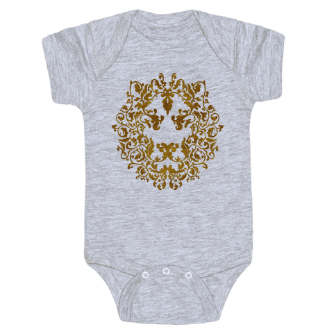 Floral Lion Baby Onesy