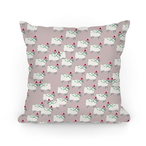 Fleece Navidad Sheep Army Pattern Pillow