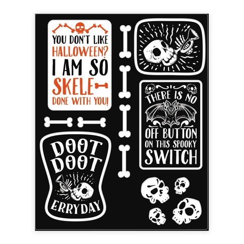 Creepy Creppy Halloween stickers Sticker and Decal Sheet
