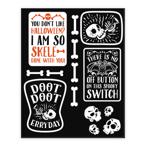 Creepy Creppy Halloween stickers Sticker/Decal Sheet