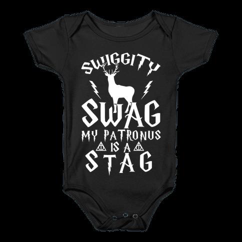 Swiggity Swag My Patronus Is A Stag Baby Onesy
