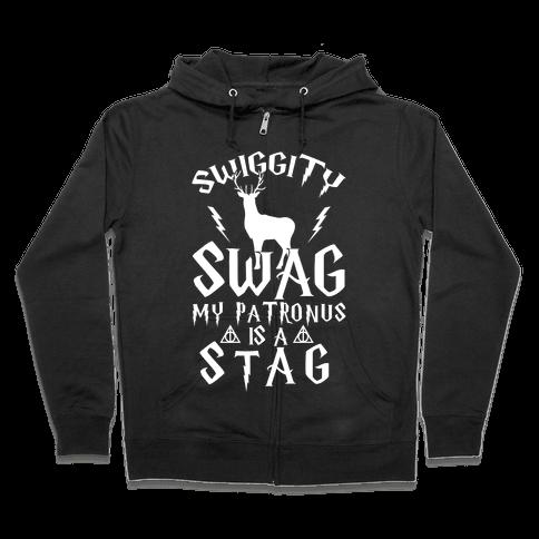 Swiggity Swag My Patronus Is A Stag Zip Hoodie