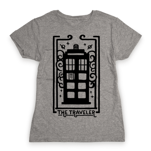 Time Traveler Tarot Womens T-Shirt