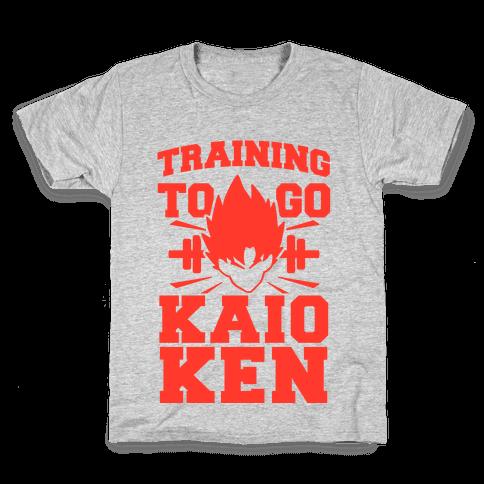 Training to Go Kaio-Ken Kids T-Shirt