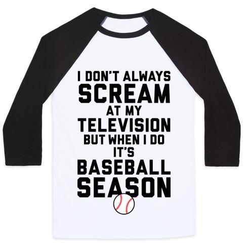 Baseball Season Baseball Tee