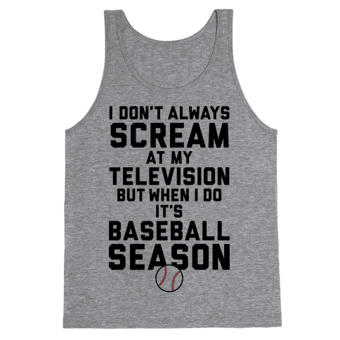 Baseball Season Tank Top