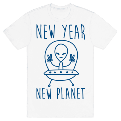 New Year New Planet Mens T-Shirt