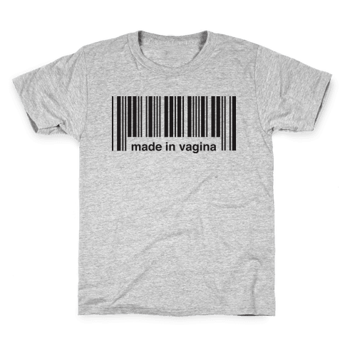 Made In Vagina (One Piece) Kids T-Shirt