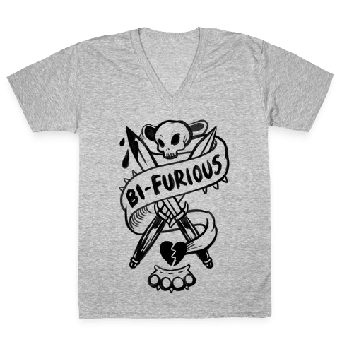 Bi-Furious V-Neck Tee Shirt