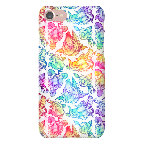 Floral Penis Rainbow phone case