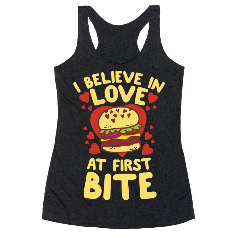 I Believe in Love at First Bite Racerback Tank Top