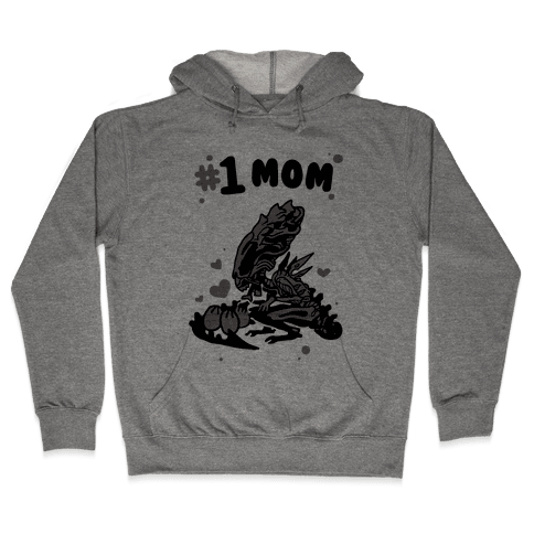Alien Queen #1 Mom Hooded Sweatshirt