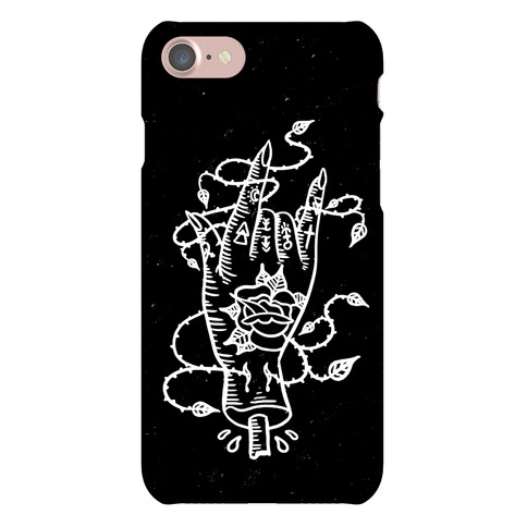 Rock On (Traditional Tattoo) Phone Case