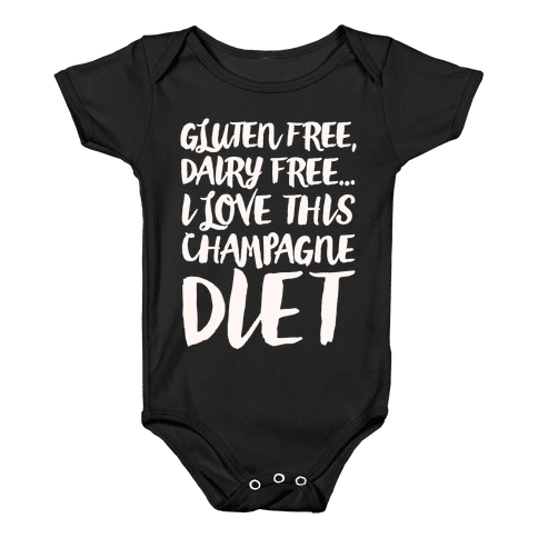 Champagne Diet Baby Onesy