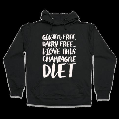 Champagne Diet Hooded Sweatshirt
