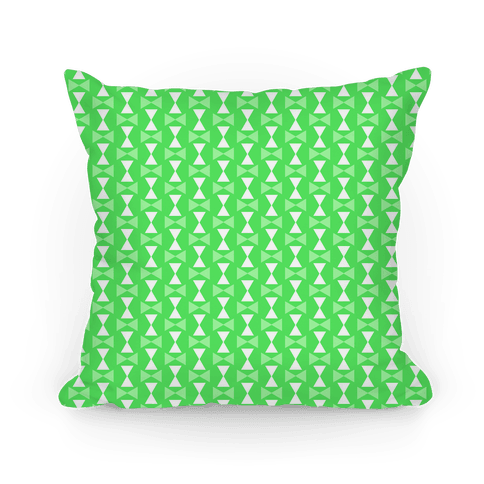 Lime Green Geometric Pattern Pillow