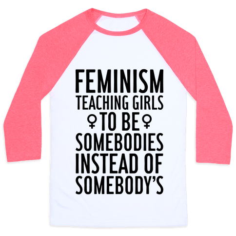 Feminism: Teaching Girls Baseball Tee