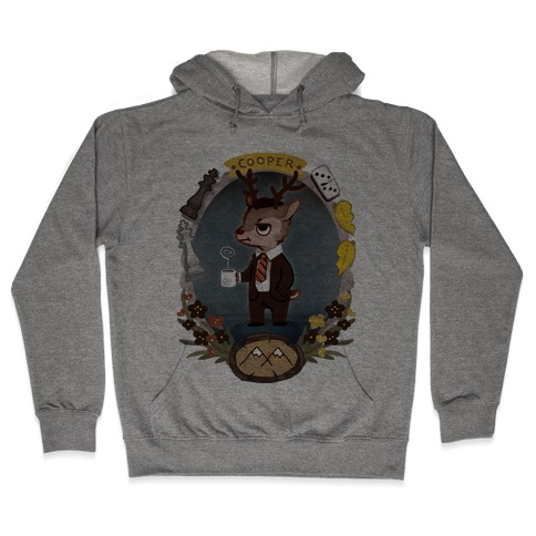 Agent Cooper Deer Hooded Sweatshirt