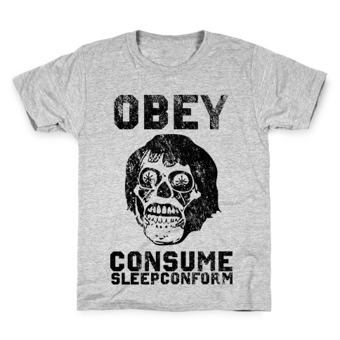 Obey Consume Sleep Conform (They Live) Kids T-Shirt