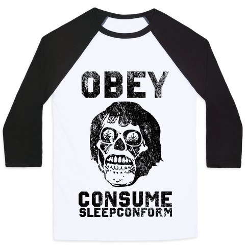 Obey Consume Sleep Conform (They Live) Baseball Tee