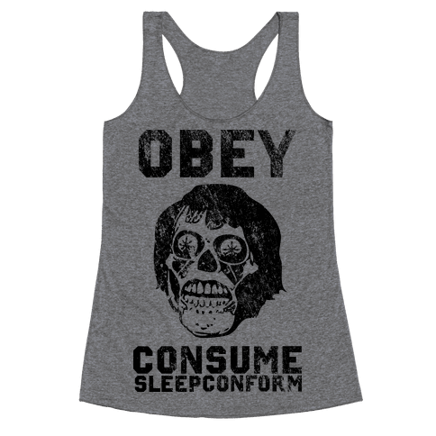 Obey Consume Sleep Conform (They Live) Racerback Tank Top