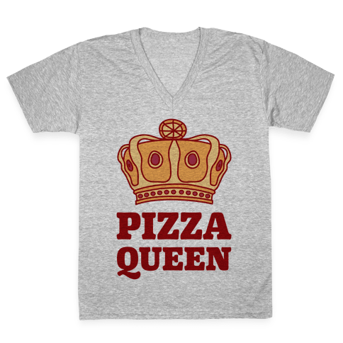 Pizza Queen V-Neck Tee Shirt