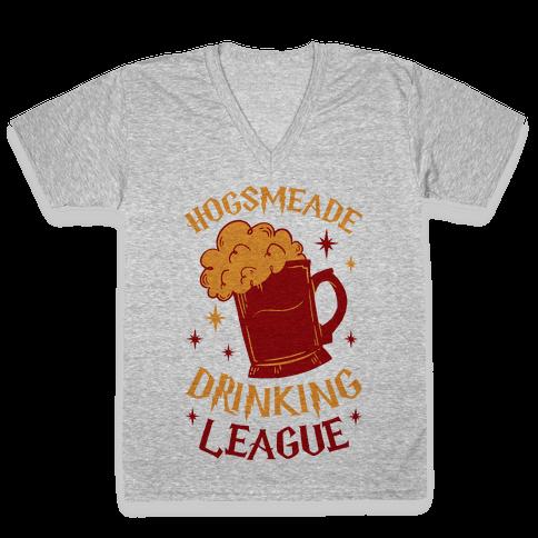 Hogsmeade Drinking League V-Neck Tee Shirt
