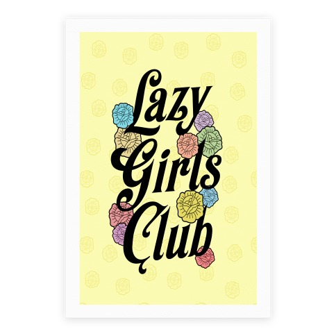 Lazy Girls Club Poster
