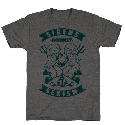 Sirens Against Sexism Mens T-Shirt