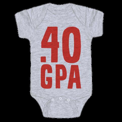 .40 GPA Baby Onesy