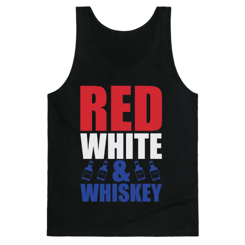 Red, White, & Whiskey Tank Top