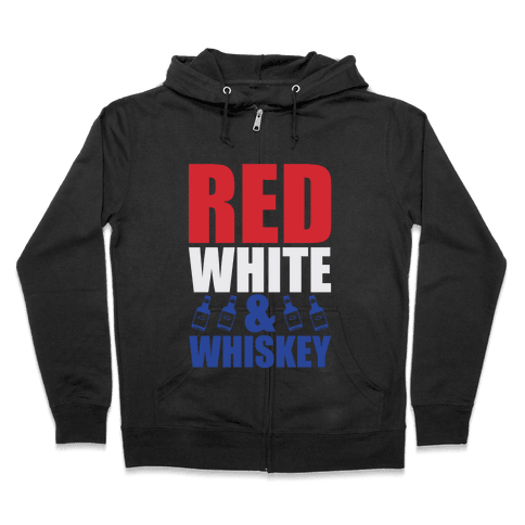 Red, White, & Whiskey Zip Hoodie