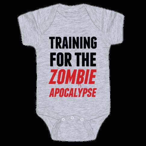 Training for the Zombie Apocalypse Baby Onesy