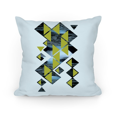 Glacier Collage Pillow