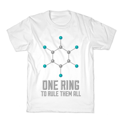Lord of the Benzene Ring Kids T-Shirt