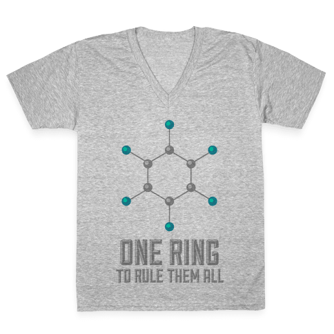 Lord of the Benzene Ring V-Neck Tee Shirt