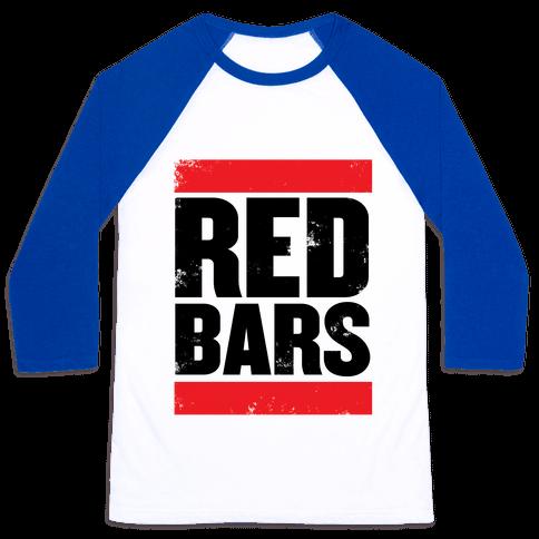 Red Bars Baseball Tee