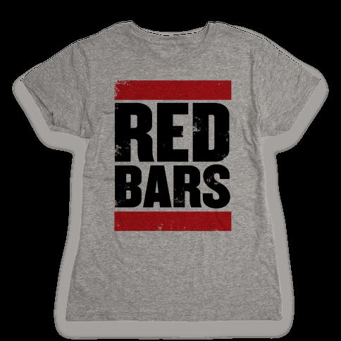 Red Bars Womens T-Shirt