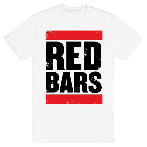 Red Bars Mens T-Shirt