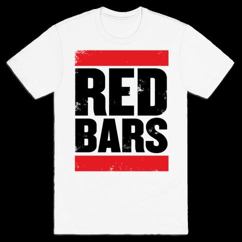 Red Bars Mens T-Shirt