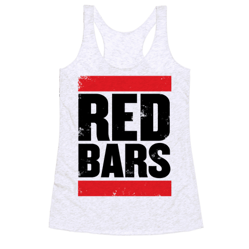 Red Bars Racerback Tank Top