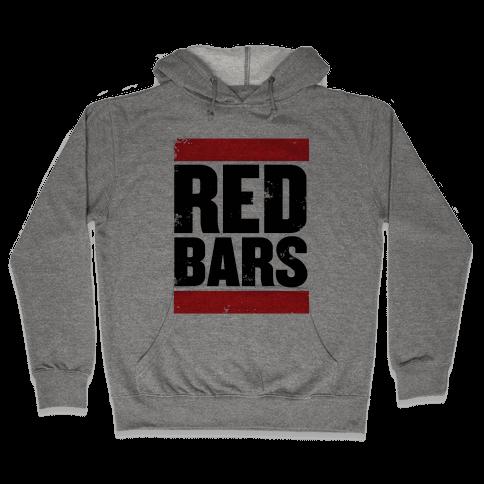 Red Bars Hooded Sweatshirt