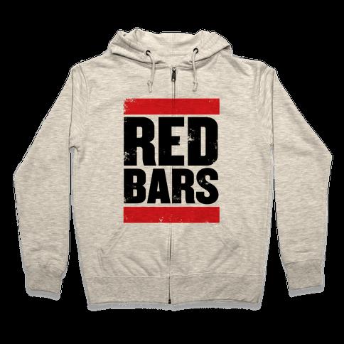 Red Bars Zip Hoodie
