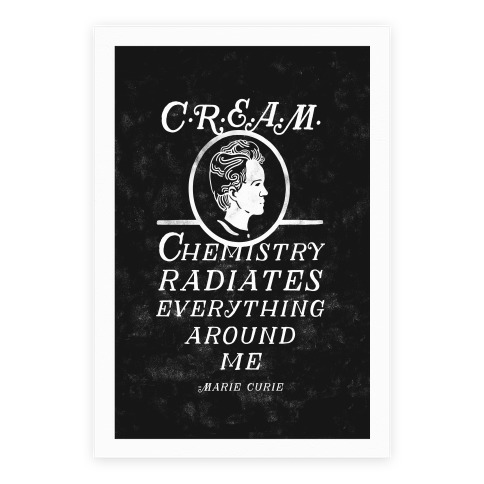 Marie Curie C.R.E.A.M. Poster