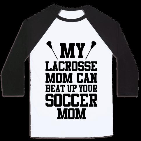 Lacrosse Mom Baseball Tee