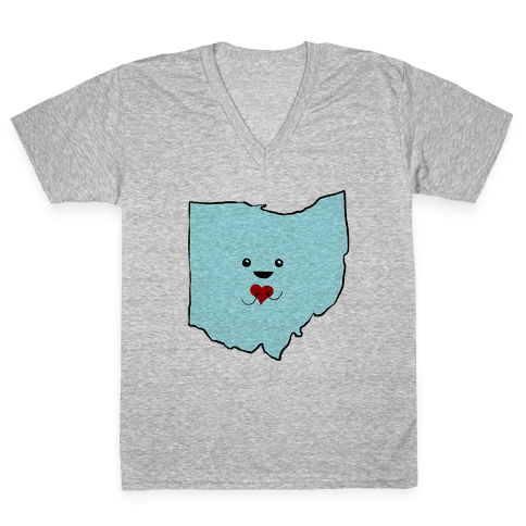 Cutie Ohio V-Neck Tee Shirt
